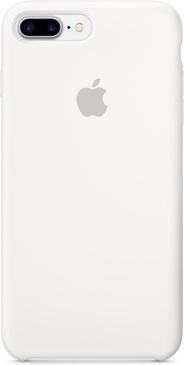 Apple Silicone Backcover iPhone 8 Plus / 7 Plus hoesje - White