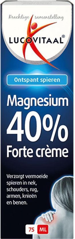 Lucovitaal Magnesium 40% Forte Creme Spierbalsem - 75 milliliter