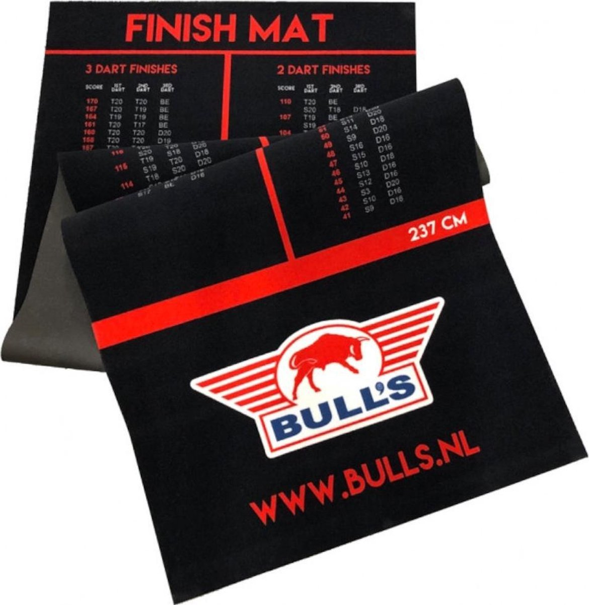 Bull's Carpet Finish Dartmat 300x90 + Oche