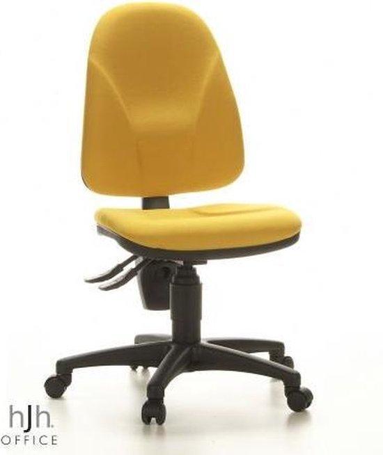 Bureaustoel - Stof - Geel - Ergonomisch