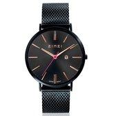 Zinzi ZIW409M horloge - Zwart 38mm + gratis Zinzi armbandje