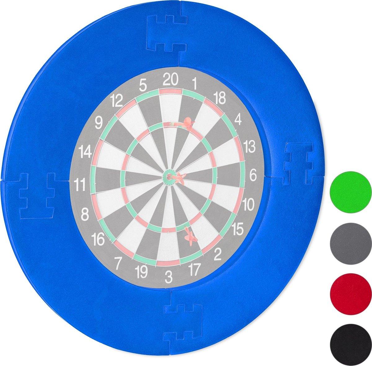relaxdays dartbord surround ring - beschermring - bescherming voor muur - beschermrand blauw