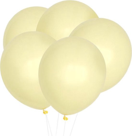 Pastel Ballonnen Geel (10st) House Of Gia
