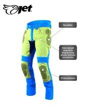 JET - Motorbroek Spijkerboek - Kevlar Safety Broeken Aramide gevoerd CE - Protectie Stretch Panels Tech Pro (Blauw, W 38 L 34)