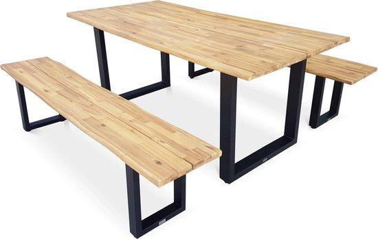 Spiksplinternieuw bol.com | 180 cm houten tuintafel met 2 banken – SALTA CE-45