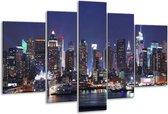 Glasschilderij Gebouw | Grijs, Bruin, Blauw | 170x100cm 5Luik | Foto print op Glas |  F002812