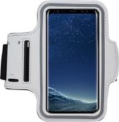 Iphone XS Max Sportband hoes Sport armband hoesje Hardloopband Wit Pearlycase