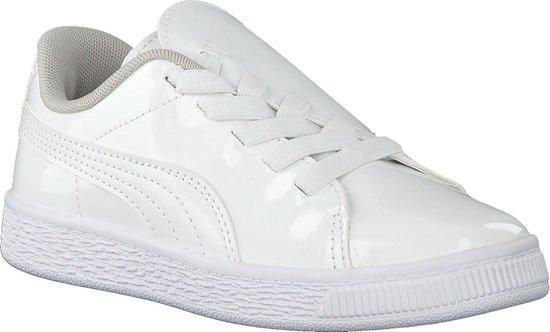 Puma Meisjes Sneakers Basket Crush Patent Ac - Wit - Maat 24