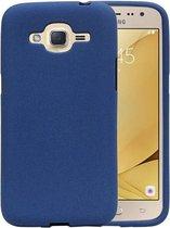 Wicked Narwal | Sand Look TPU Hoesje voor Samsung Galaxy J2 2016 J210F Blauw