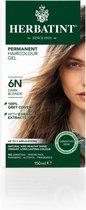 Herbatint 6N Donkerblond – 100% biologische, permanente vegan haarkleuring – Met 8 plantenextracten– 150 ml