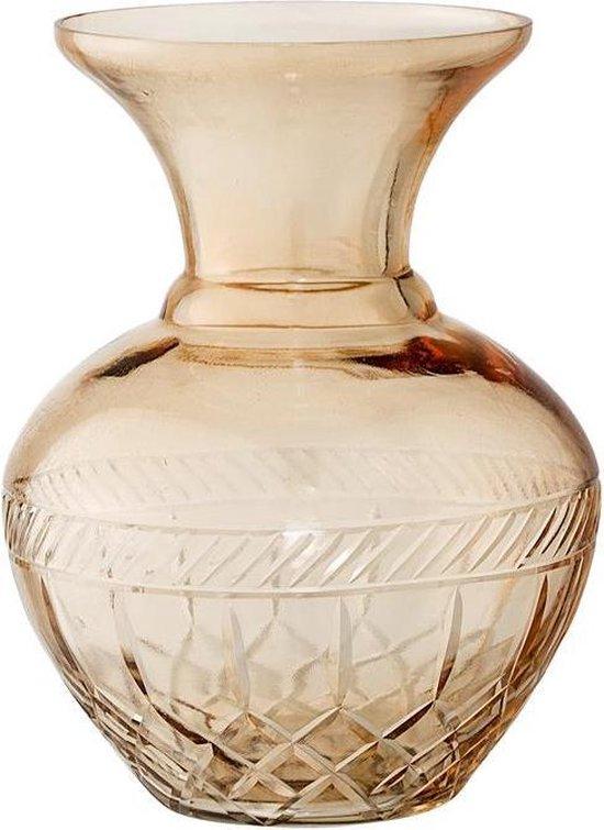 Bloomingville - Vaas glas bruin