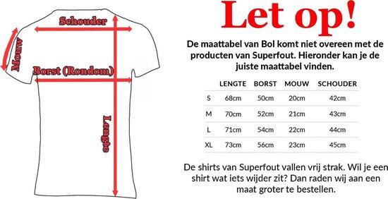 Gigantisch fout katten festival shirt Maat L Crew neck