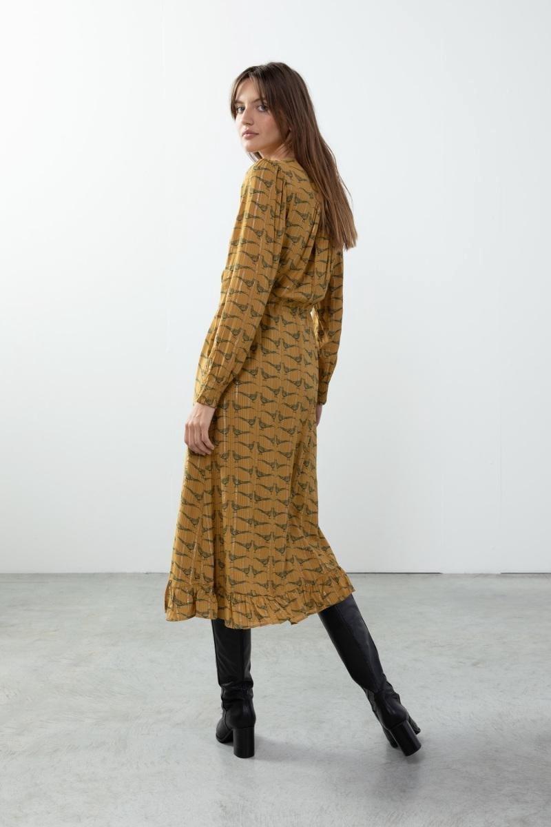 Sissy-Boy - Okergele jurk met all over print