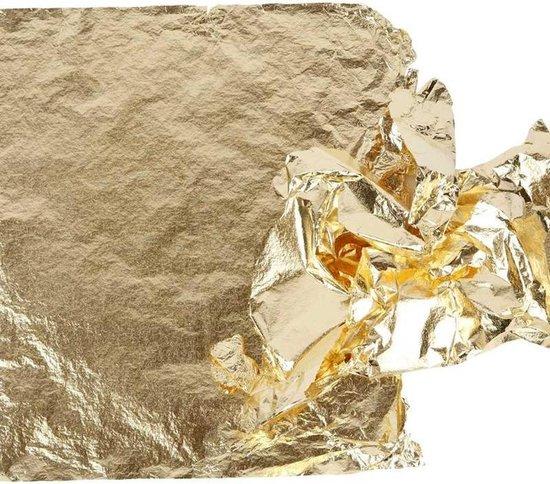 Imitatie bladmetaal, vel 16x16 cm, goud, 25 vellen