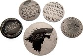 GAME OF THRONES  5 Pack Badges -  Winter is Coming