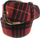 Rode riem - Scotch Red  Dames riem - Broekriem Dames - Dames riem -  Dames riemen - heren riem - heren riemen - riem - riemen - Designer riem - luxe
