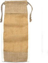 Lang gewassen jute zakje - 35x15cm
