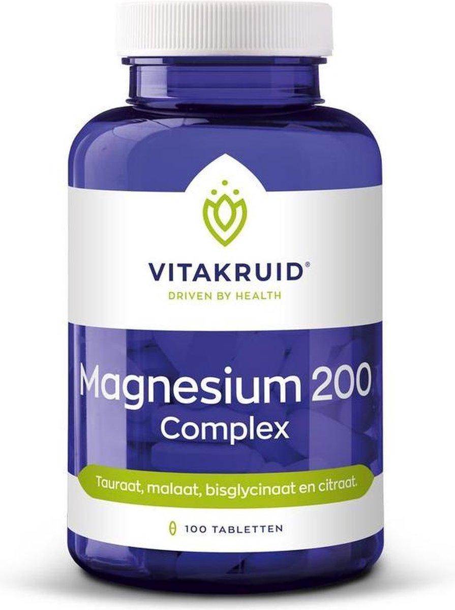 Vitakruid Magnesium 200 Compleet 100 tabletten