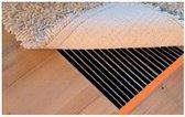 Karpet verwarming / parket verwarming / infrarood folie vloerverwarming elektrisch 240 Watt, 75 cm x 200 cm