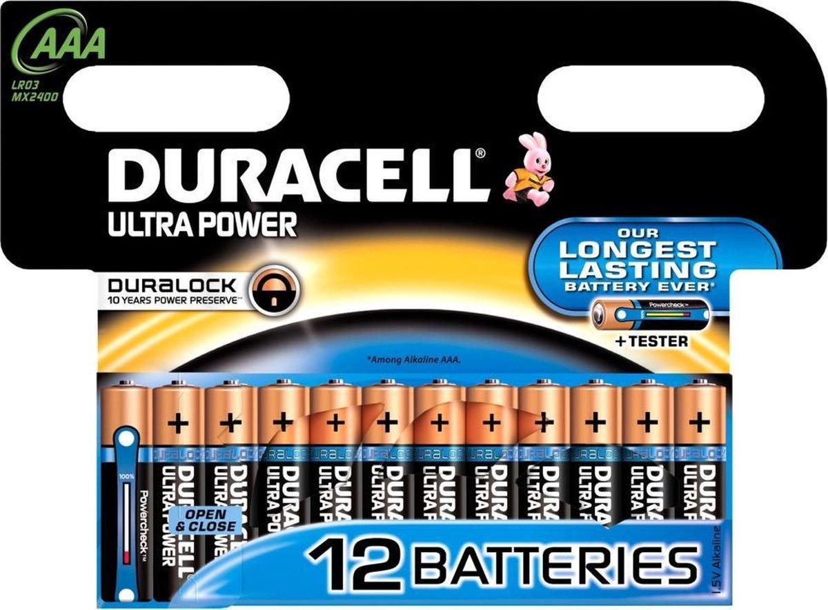 Duracell Ultra alkaline AAA-batterijen, verpakking van 12