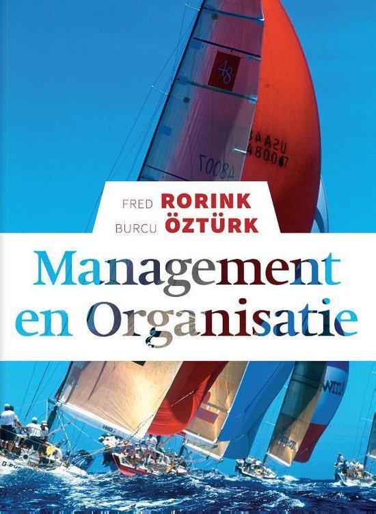 Boek cover Management en organisatie van Fred Rorink (Paperback)