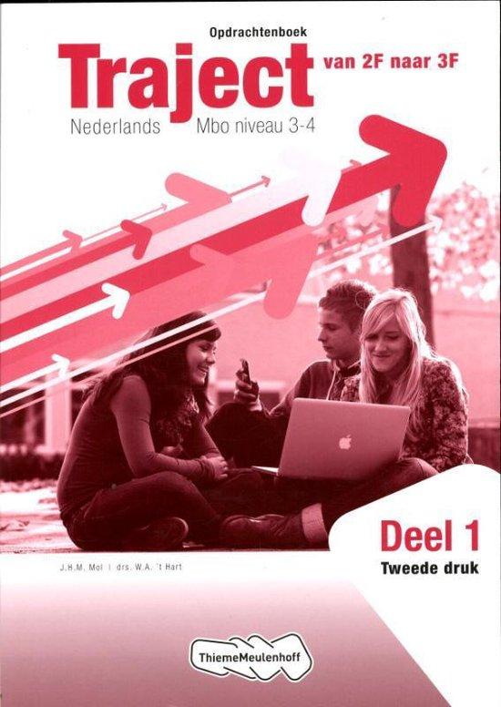 Boek cover Traject / 1 Nederlands MBO niveau 3-4 / deel Opdrachtenboek van J.H.M. Mol (Paperback)