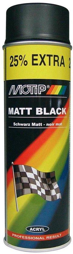Motip Mat Acryllak Zwart - 500 ml