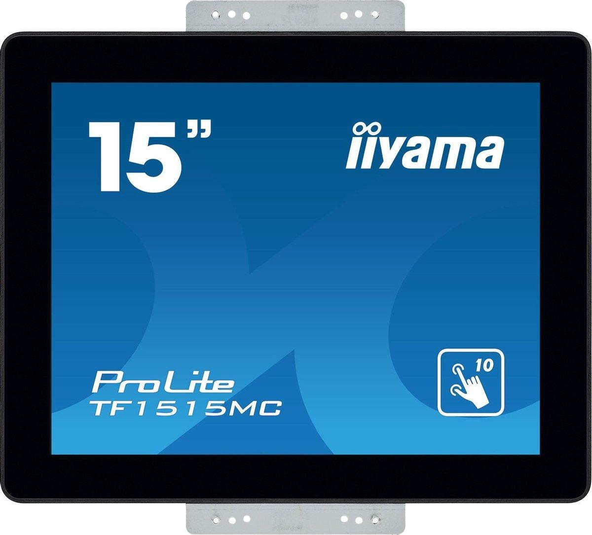 iiyama ProLite TF1515MC-B2 touch screen-monitor 38,1 cm (15) 1024 x 768 Pixels Multi-touch Zwart