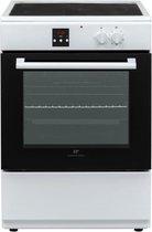 CONTINENTAL EDISON - inductiekookplaat 3 zones - katalytische multifunctionele oven 65L - digitale programmeur - WIT