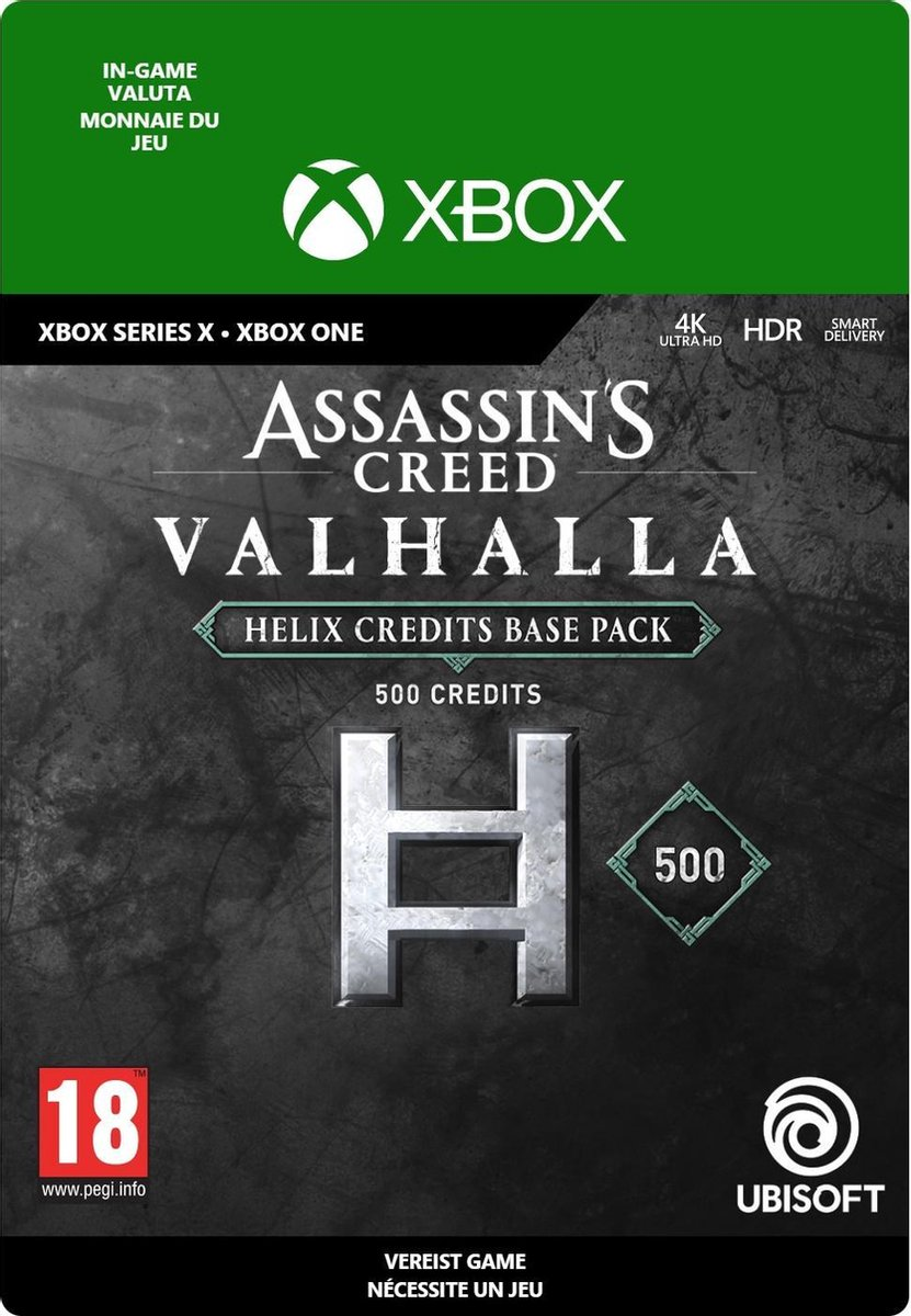 500 Assassin's Creed Valhalla Helix Credits Pack - In-game tegoed - Xbox One/Xbox Series X/S