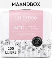 LILLYDOO luiers - Maat 1 (2-5 kg) - 205 Stuks - Maandbox