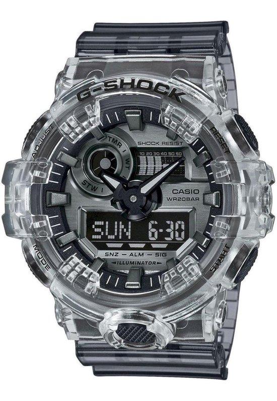 Casio G-Shock GA-700SK-1AER Horloge - Kunststof - Transparant - Ø 50 mm