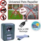 Universal Animal Repeller Dierenverjager - Verjager met ultrasound en knipperlicht