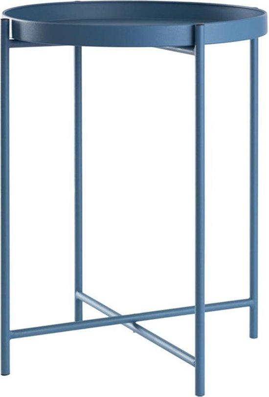 Lisomme ronde bijzettafel Susan - Ø38 x H50 cm - Mat blauw