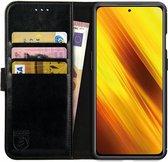 Rosso Element Xiaomi Poco X3 / X3 Pro Hoesje Book Cover Zwart