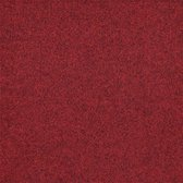 INCA rood 50x50cm tapijttegel naaldvilt tapijt 5m2 / 20 tegels