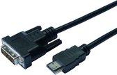 CONTINENTALE EDISON HDMI naar DVI kabel - 2m