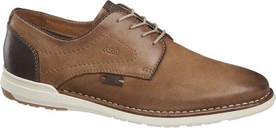AM shoe Heren Bruine leren veterschoen - Maat 44