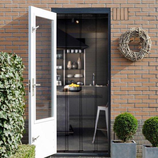 2Lif Horgordijn Lamellen Zwart Vliegengordijn - 100x 210 cm