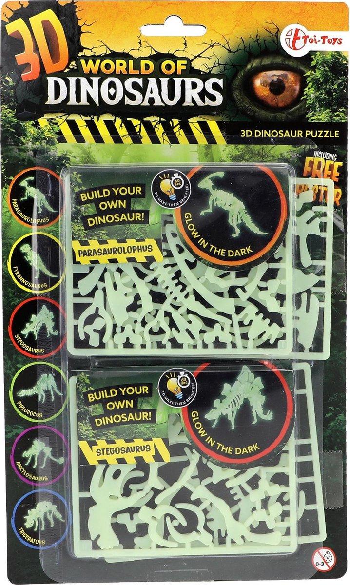 Toi-toys 3d-puzzel Glow-in-the-dark Parasaurolophus & Stegosaurus