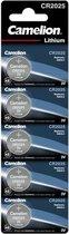 Camelion CR2025 lithium 3v - 5 stuks