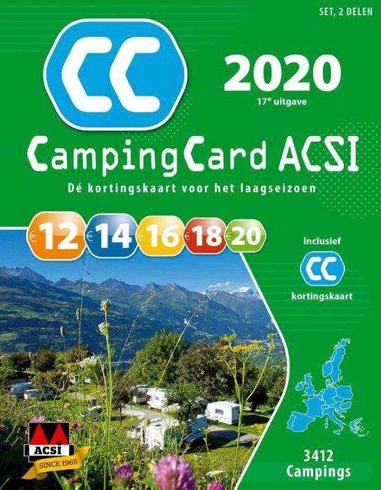 ACSI Campinggids - CampingCard ACSI 2020 Nederlandstalig - set 2 delen - Acsi  