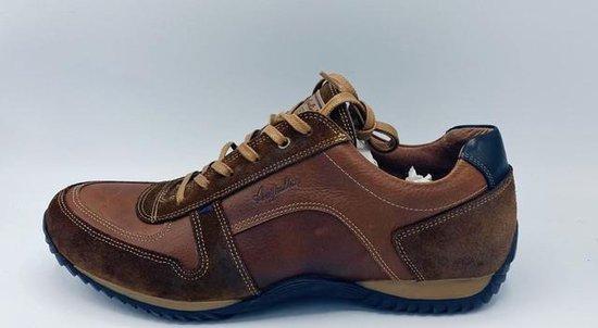 Australian Footwear Heren Sneakers Barclay Tan Leer - Tan - maat 47