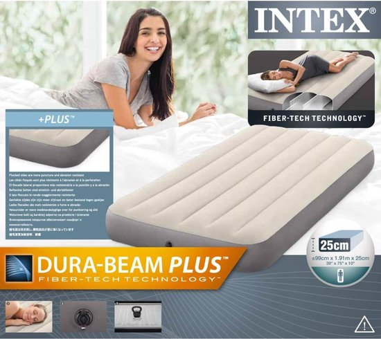 Intex Luchtbed Deluxe Single High 64707