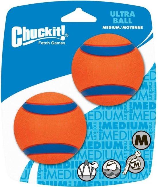 Chuckit Ultra Ball Hondenspeelgoed - Oranje - M - 2 ballen