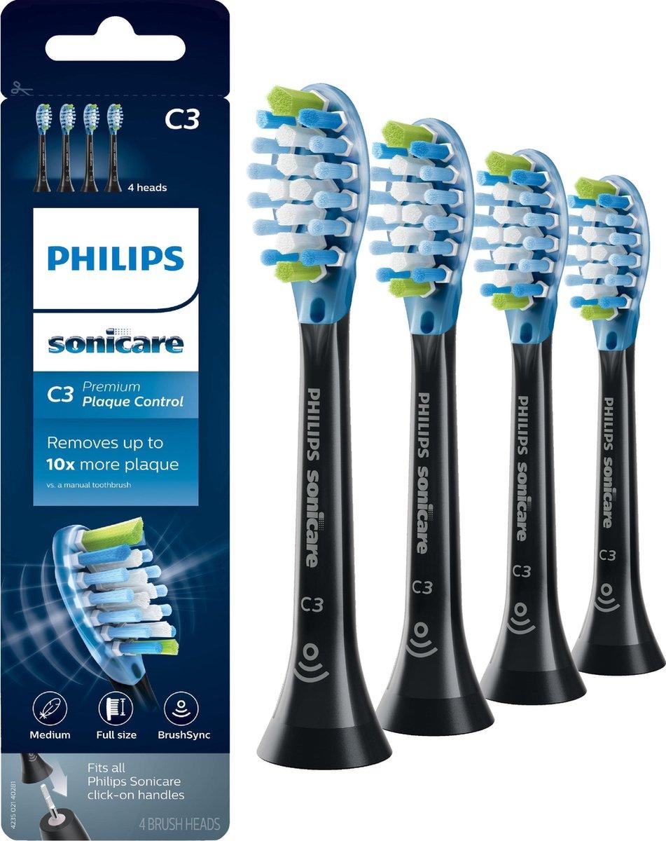 Philips Sonicare C3 Premium Plaque Defense HX9044/33 - Opzetborstel - 4 stuks