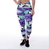 High waist sport legging dames | Graffiti beasts | Streetart | Unieke graffitiprint - Edis1 -  Maat L