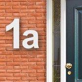 Huisnummer Acryl wit, letter a Hoogte 12cm - Huisnummers - Huisnummer wit - Huisnummer modern - Gratis verzending!