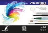 Aquarelblok 16 vel 300 gram 24 x 17 cm - Aquarel papier - Aquarelblokken/tekenblokken - Hobby/schildermateriaal