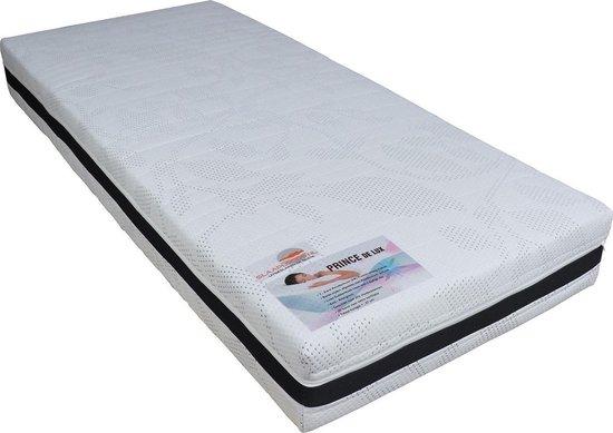 Slaaploods.nl Prince de Luxe® - 90x190 cm - Pocketvering Matras met Koudschuim - Hard - 25 cm dik